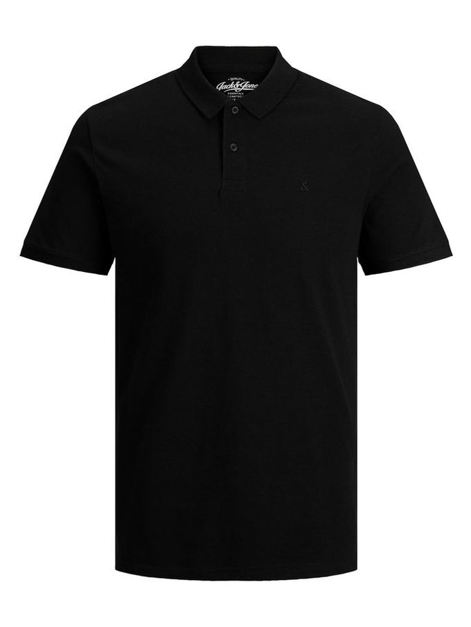 SLIM FIT BASIC POLO BLACK