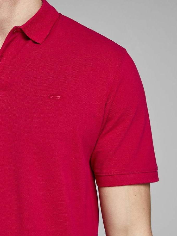 SLIM FIT BASIC POLO JESTER RED