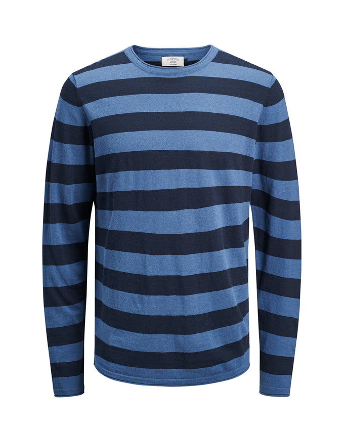 LIGHT ORIGINALS STRIPED SWEATER DARK DENIM
