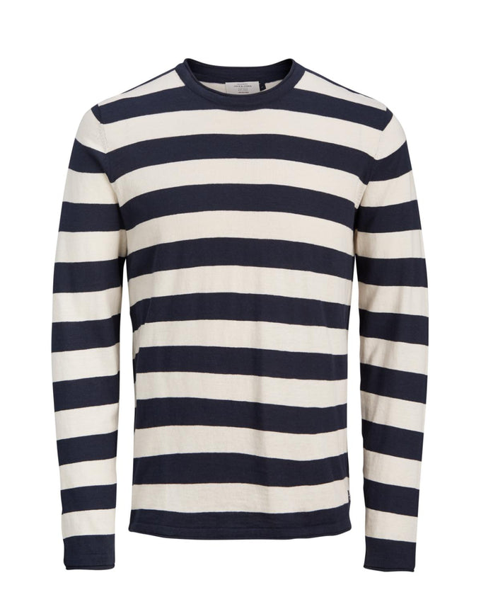 LIGHT ORIGINALS STRIPED SWEATER TOTAL ECLIPSE