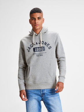 HOODIE WITH JACK & JONES DENIM LOGO