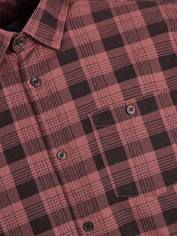 CHEMISE COUPE CONFORT ORIGINALS À CARREAUX ROUGE