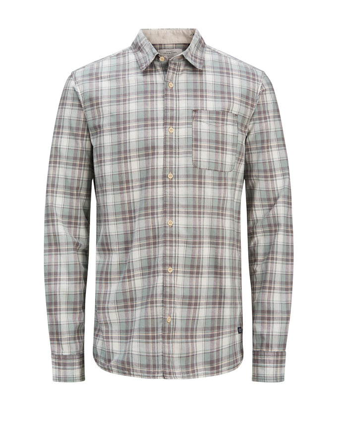 CHECKERED COMFORT FIT ORIGINALS SHIRT ICEBERG GREEN