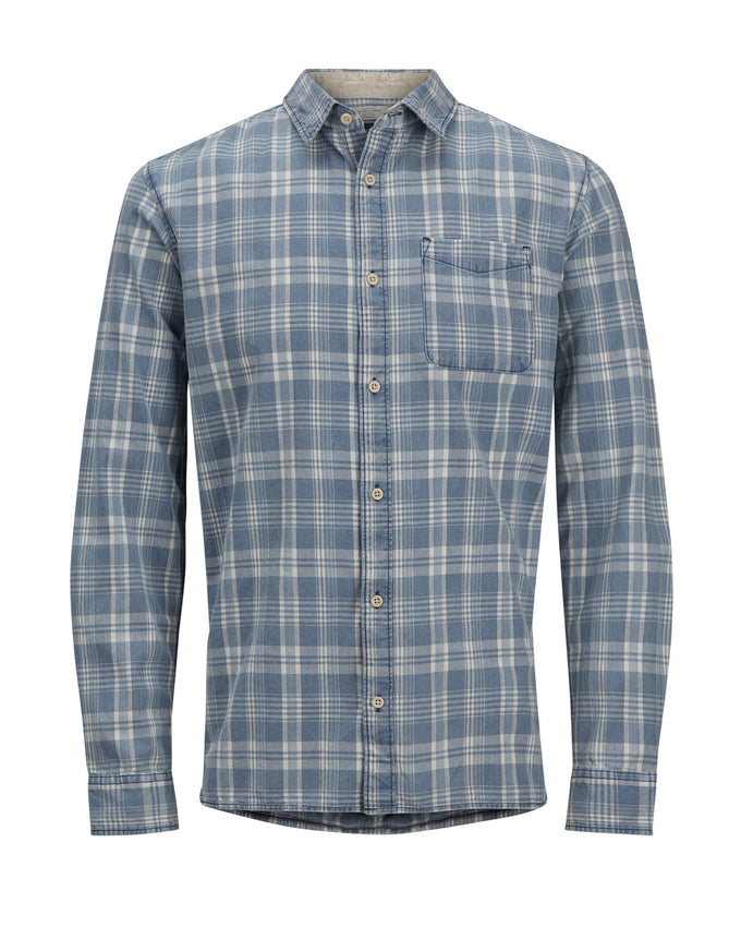 CHECKERED COMFORT FIT ORIGINALS SHIRT VINTAGE INDIGO