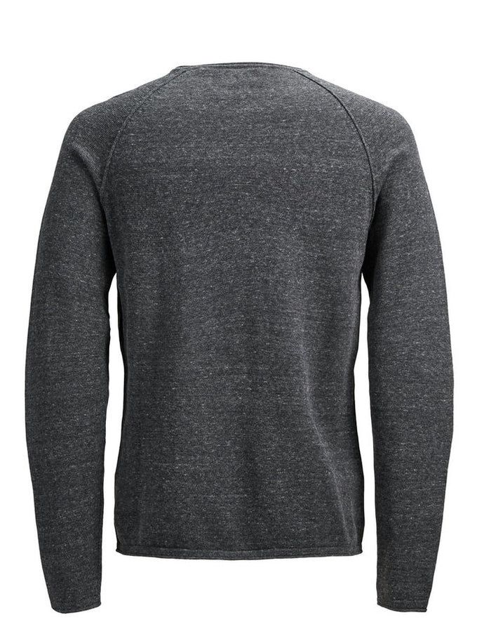 BASIC ESSENTIAL SWEATER DARK GREY MELANGE