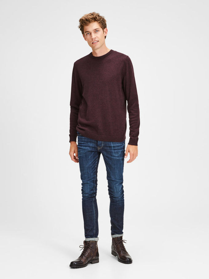 LIGHTWEIGHT ESSENTIAL SWEATER PORT ROYALE