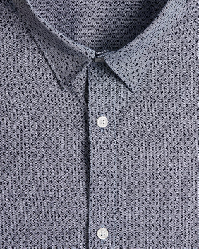 COMFORT FIT MICRO-PRINT DRESS SHIRT CASHMERE/COMFORT