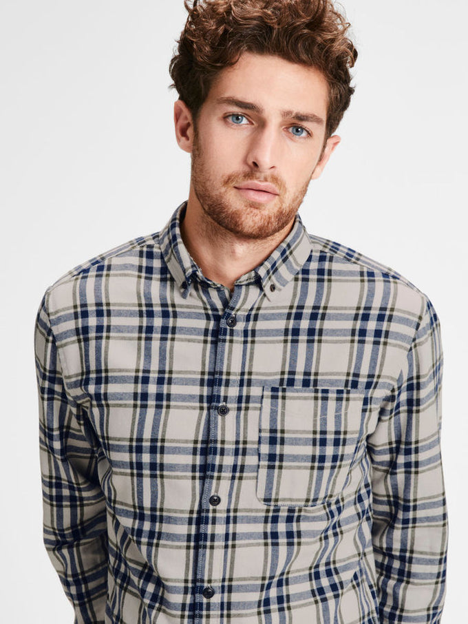WORKWEAR STYLE FLANNEL SHIRT FOREST NIGHT/CHECK
