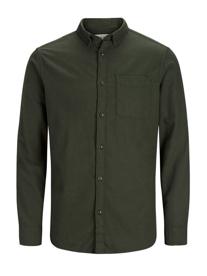 WORKWEAR STYLE FLANNEL SHIRT FOREST NIGHT