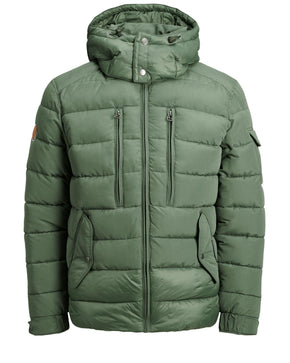 PADDED JACKET WITH CONTRAST PANEL