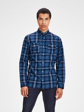 CHECKERED SHIRT WITH BUTTONED POCKETS