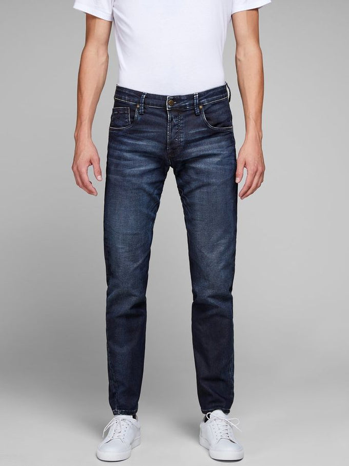 MIKE 715 INDIGO KNIT STRETCH COMFORT FIT JEANS BLUE DENIM