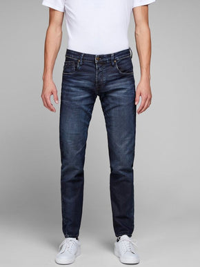 JEAN COUPE AMPLE EXTENSIBLE INDIGO KNIT MIKE 715
