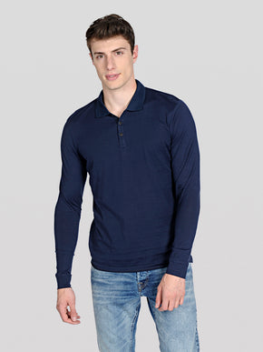LONG SLEEVE POLO STYLE T-SHIRT