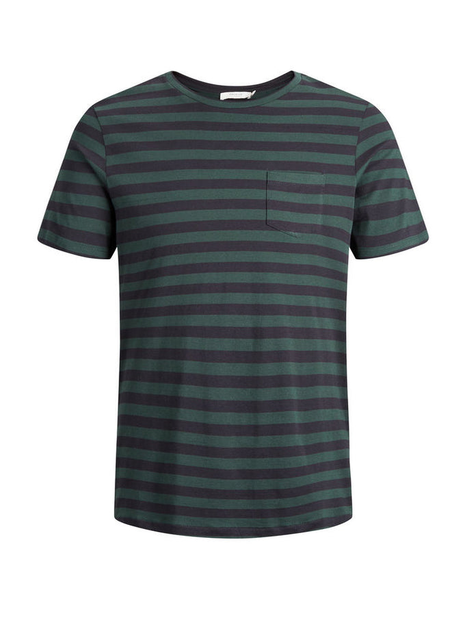 PREMIUM STRIPED POCKET T-SHIRT SCARAB