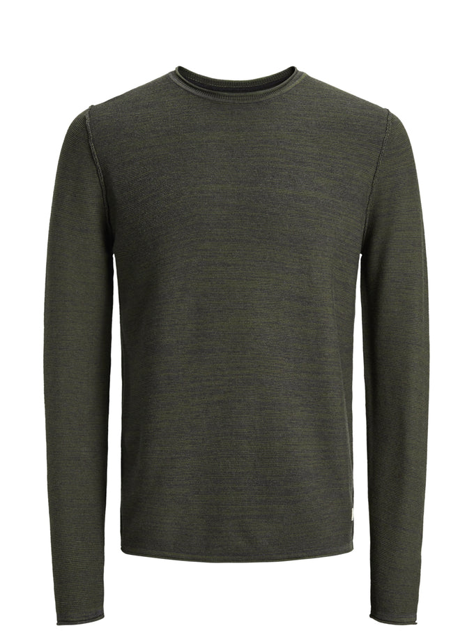 TWO-TONE PREMIUM SWEATER OLIVE NIGHT