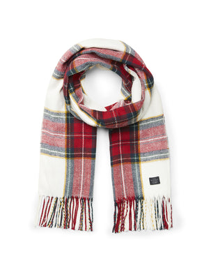 CHECKERED SCARF WITH FRILLS