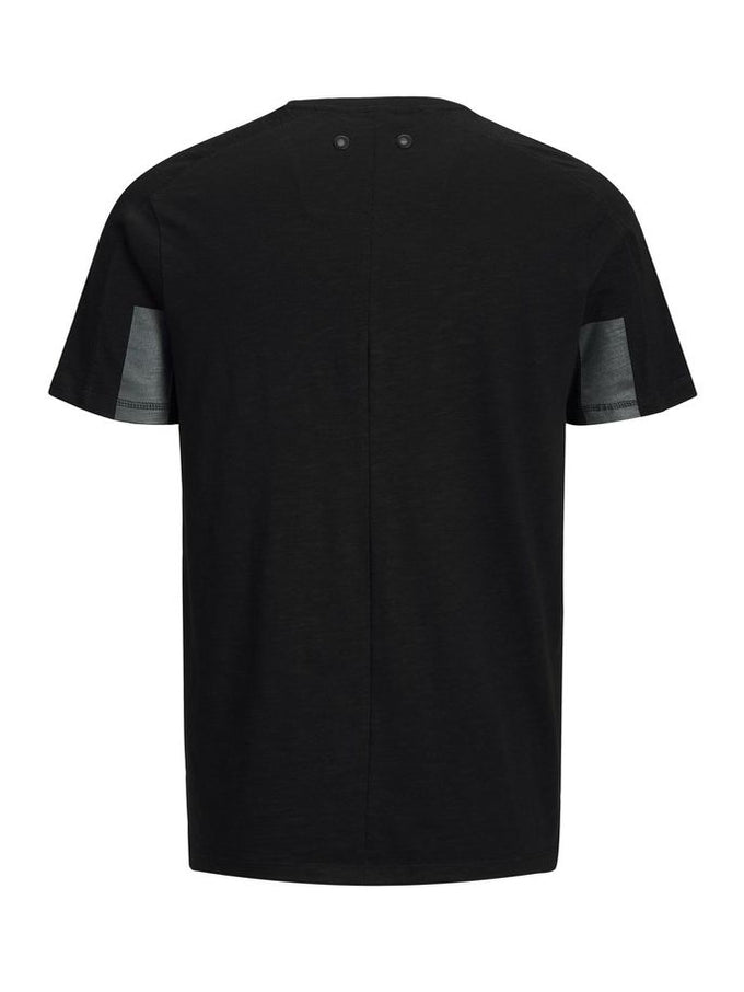 CORE T-SHIRT WITH BACK BUTTONS BLACK