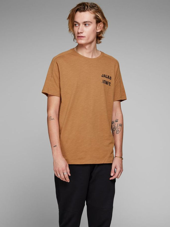CORE T-SHIRT WITH BACK BUTTONS CHIPMUNK