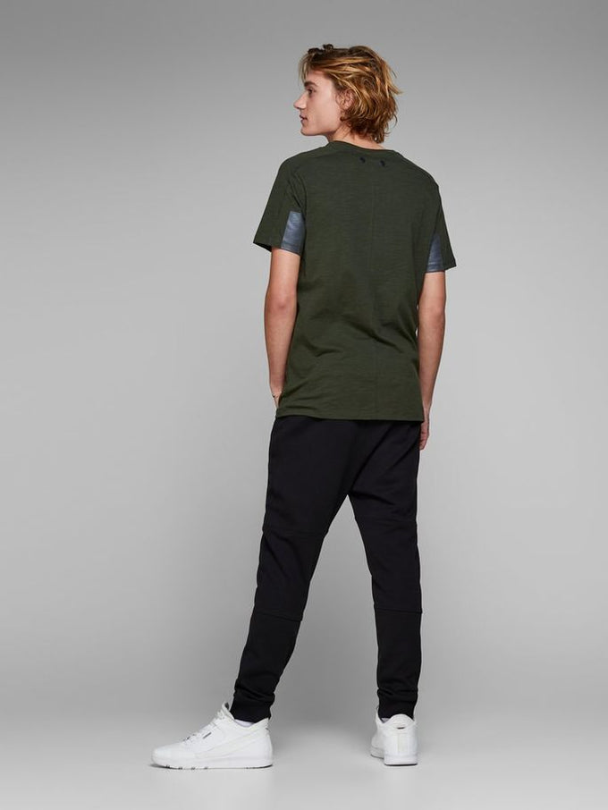 CORE T-SHIRT WITH BACK BUTTONS ROSIN