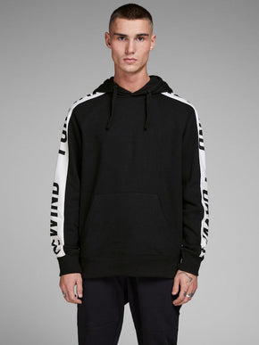 CORE HOODIE WITH PRINTED SLEEVES