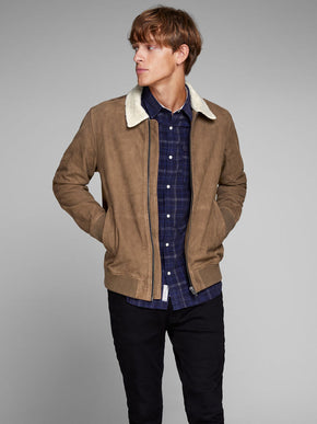 REAL SUEDE AVIATOR JACKET