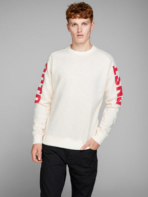 CORE SWEATSHIRT WITH LARGE PRINTS