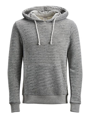 HEATHERED HOODIE WITH FLECKED PATTERN