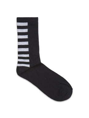 BLACK & WHITE STRIPED SOCKS