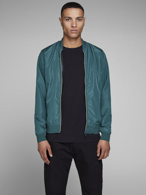 BOMBER JACKET WITH GOLDEN ZIPPER