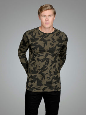 LONG FIT WOOL BLEND LONG SLEEVE T-SHIRT