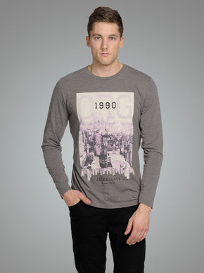 LONG SLEEVE CITY PRINT T-SHIRT
