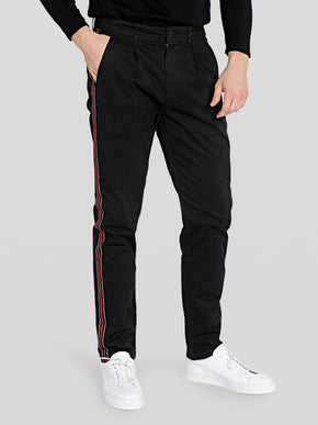 SLIM FIT STRIPED CHINO PANTS