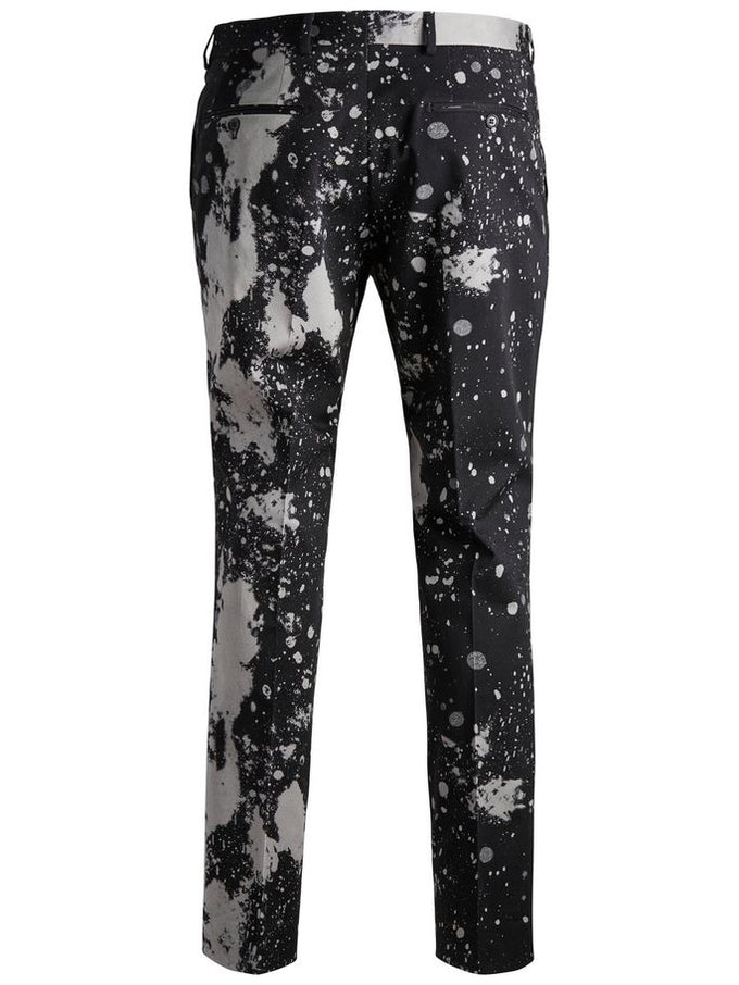 PAINT SPLATTER DRESS PANTS BLACK