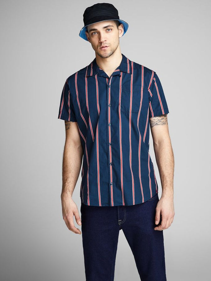 23c0a7a8490 VERTICAL STRIPE SHORT SLEEVE SHIRT