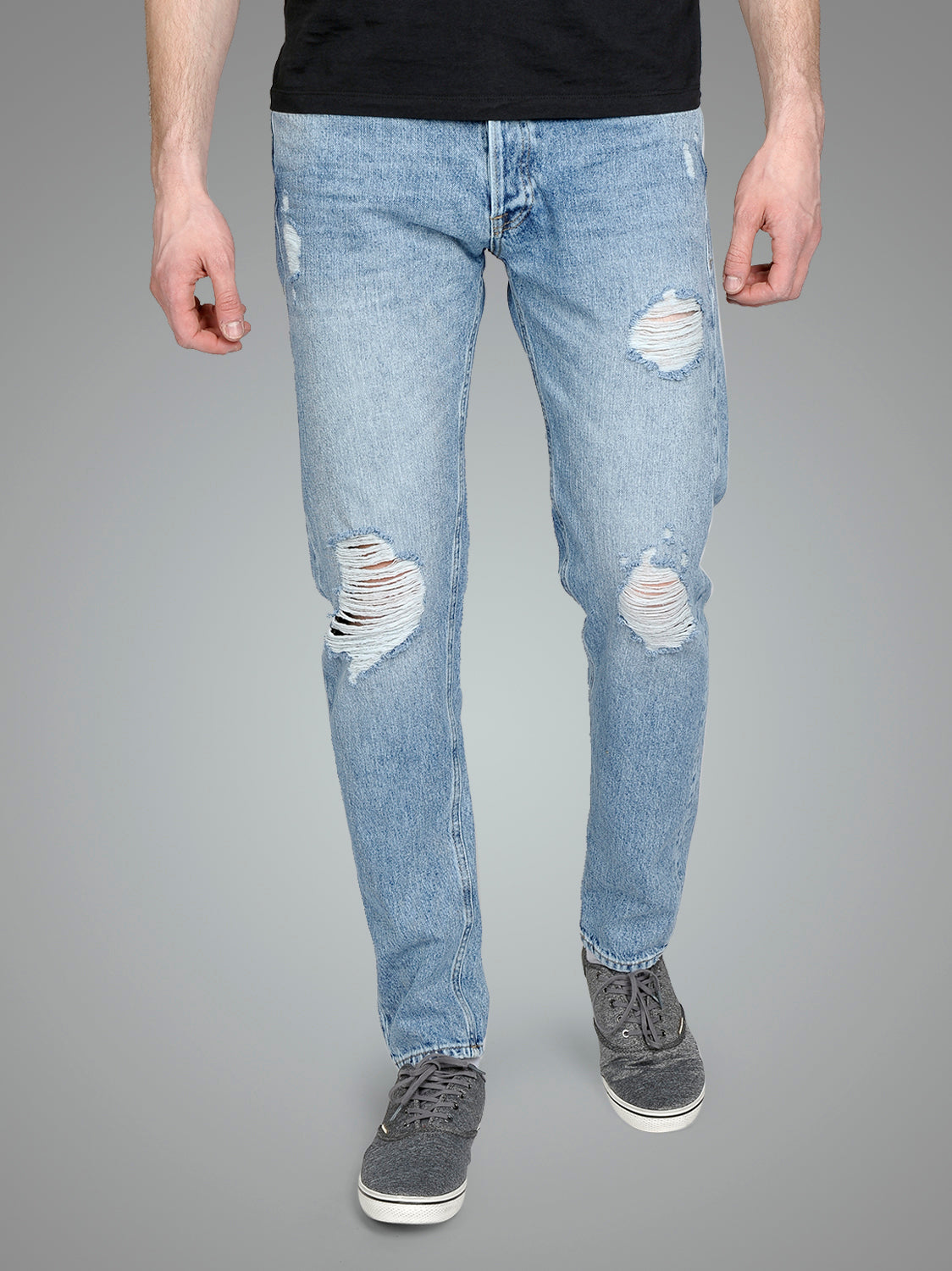 FRED 017 TAPERED FIT DESTROYED STYLE JEANS