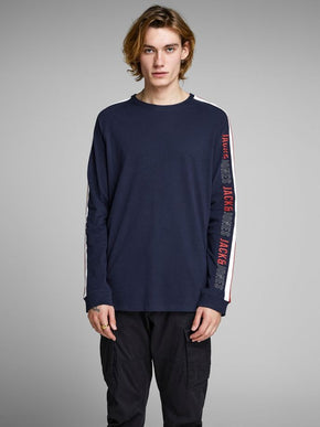 LONG SLEEVE T-SHIRT WITH STRIPED SIDES