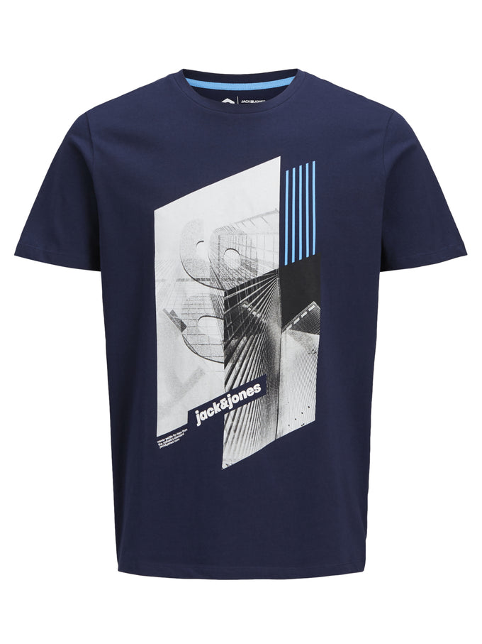CORE SKYSCRAPER T-SHIRT MARITIME BLUE