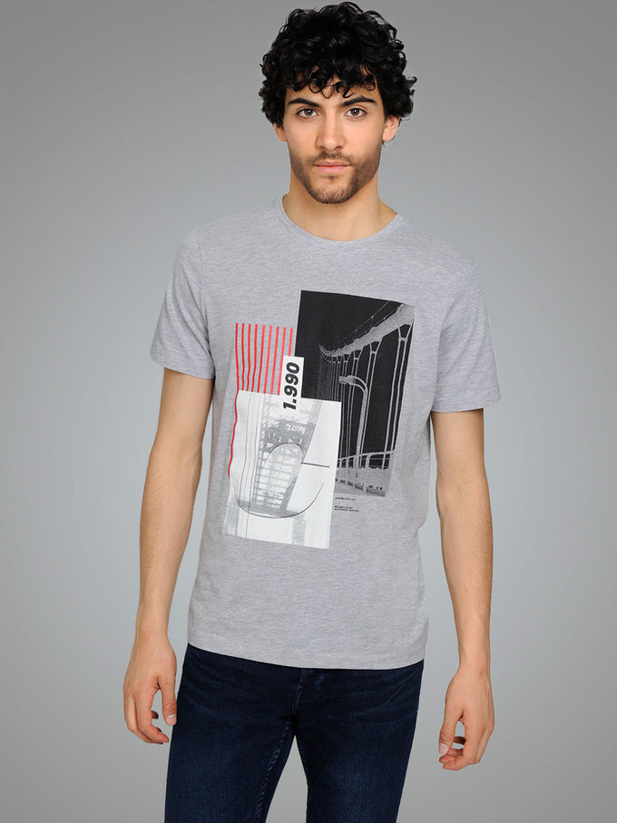 CORE SKYSCRAPER T-SHIRT LIGHT GREY MELANGE
