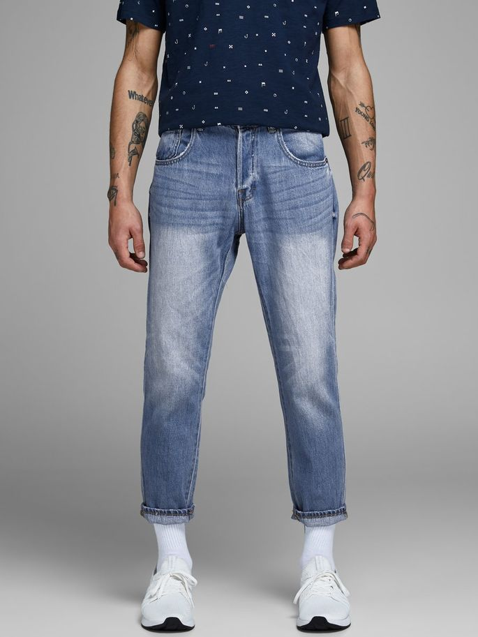 GLENN 118 INDIGO KNIT STRETCH JEANS