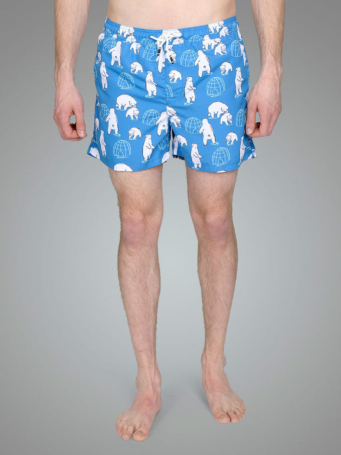 67f0686852 ANIMAL PRINT SWIM SHORTS FRENCH BLUE