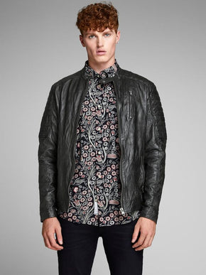 ESSENTIAL LAMB LEATHER JACKET