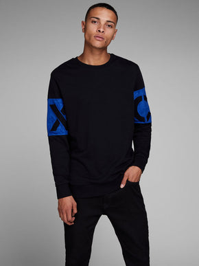 CORE SWEATSHIRT WITH VELVET DETAILS