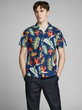 CHEMISE MANCHES COURTES STYLE TROPICAL