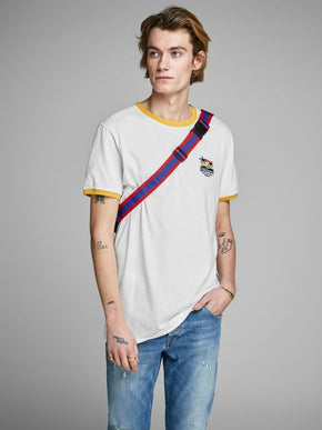 CONTRAST DETAIL SUMMER T-SHIRT
