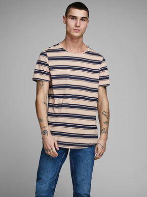 LONG FIT STRIPED T-SHIRT