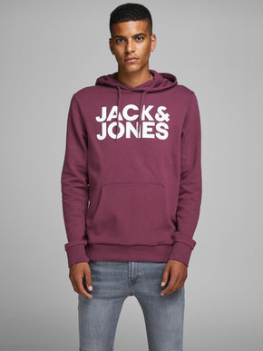 ESSENTIAL HOODIE WITH JACK & JONES LOGO