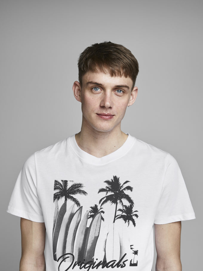SURF PRINT ORIGINALS T-SHIRT WHITE