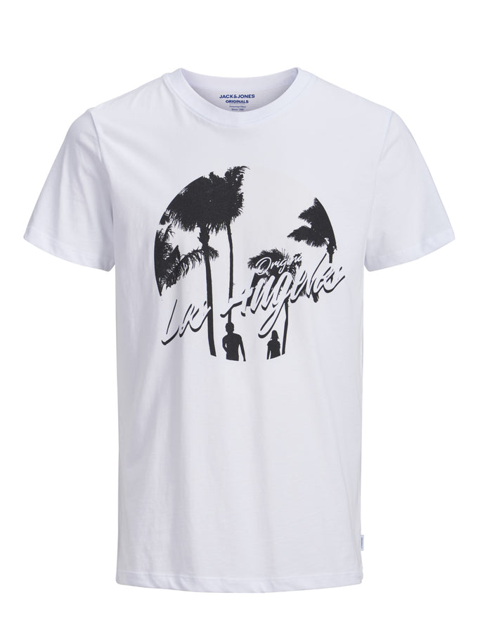 SURF PRINT ORIGINALS T-SHIRT WHITE/LA