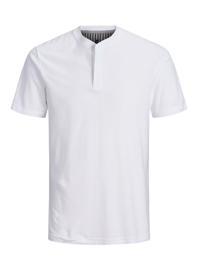 SOLID POLO WITH HIDDEN CLOSURE WHITE
